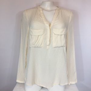 Mauve from Anthropologie cream pullover blouse